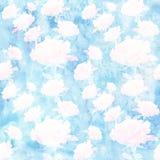 A colagem das flores aumentou na aquarela Papel de parede sem emenda Fotos de Stock Royalty Free