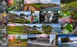 Colagem das fotos de Bali indonésia Fotos de Stock Royalty Free