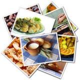 Colagem das fotos do alimento fotos de stock