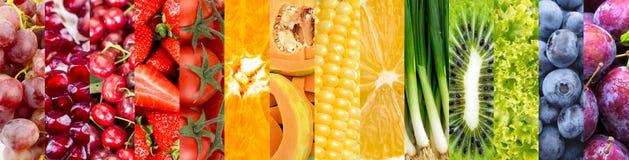 Colagem das frutas e verdura Imagens de Stock Royalty Free