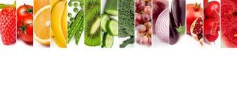 Colagem das frutas e verdura Fotografia de Stock