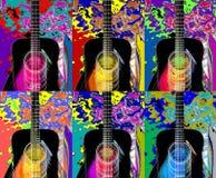 Colagem das guitarra ilustração royalty free