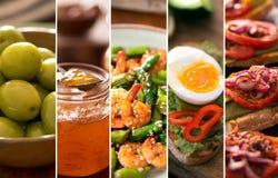 Colagem das imagens diferentes do alimento saboroso Fotografia de Stock Royalty Free