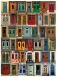 Colagem das portas de Cidade de Quebec em Canadá Fotografia de Stock Royalty Free
