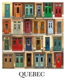 Colagem das portas de Cidade de Quebec em Canadá Fotos de Stock