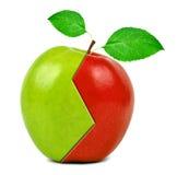 Colagem de Apple Imagens de Stock