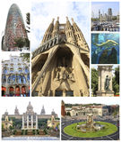Colagem de Barcelona - Espanha fotografia de stock