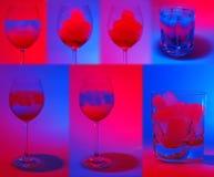 Colagem de bebidas coloridas Imagem de Stock Royalty Free