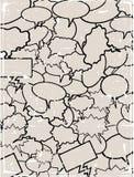 Colagem de bolhas em branco do diálogo da banda desenhada Foto de Stock Royalty Free