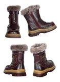 Colagem de botas do inverno das crianças Foto de Stock Royalty Free