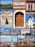 Colagem de Bratislava Foto de Stock Royalty Free