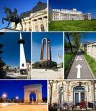 Colagem de Bucareste fotos de stock royalty free