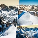 Colagem de Chamonix Mont Blanc, França Fotos de Stock Royalty Free