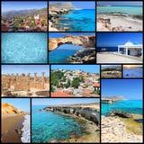 Colagem de Chipre Imagem de Stock