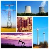 Colagem de conceitos do poder e da energia fotografia de stock