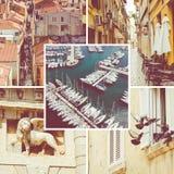 Colagem de destinos populares do turista em Zadar Cro?cia Fundo do curso imagem de stock royalty free