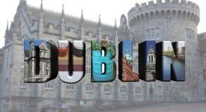 Colagem de Dublin das imagens foto de stock royalty free