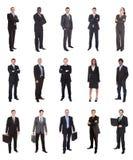 Colagem de empresários diversos foto de stock royalty free