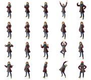 Colagem de expressões faciais diferentes Foto de Stock