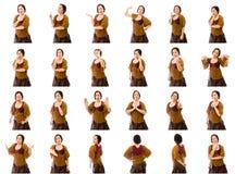 Colagem de expressões faciais diferentes Imagens de Stock