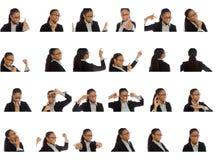 Colagem de expressões faciais diferentes imagem de stock royalty free