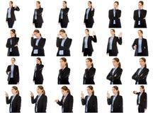 Colagem de expressões faciais diferentes Fotografia de Stock Royalty Free