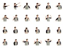 Colagem de expressões faciais diferentes Fotos de Stock Royalty Free