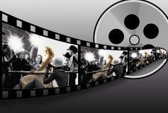 Colagem de Filmstrip Fotografia de Stock