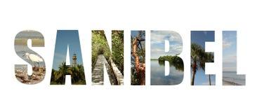 Colagem de Florida da ilha de Sanibel fotografia de stock royalty free