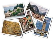 Colagem de Garda do lago. fotos de stock royalty free
