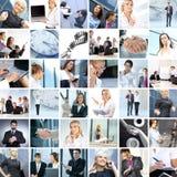 Colagem de imagens diferentes do negócio Fotos de Stock Royalty Free