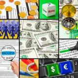 Colagem de imagens do negócio Imagem de Stock Royalty Free