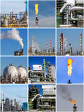 Colagem de imagens industriais Imagem de Stock Royalty Free