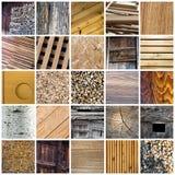 Colagem de madeira Imagem de Stock