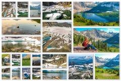 Colagem de Montana da geleira imagens de stock