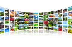 Colagem de muitas fotos Foto de Stock