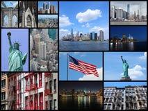 Colagem de New York Imagens de Stock