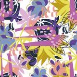 Colagem de papel dos elementos florais abstratos Fotografia de Stock Royalty Free