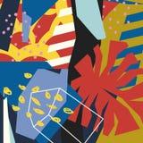 Colagem de papel dos elementos florais abstratos Fotos de Stock Royalty Free