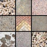 Colagem de pedra da textura foto de stock royalty free