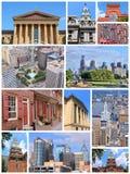 Colagem de Philadelphfia Imagem de Stock