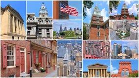 Colagem de Philadelphfia Foto de Stock