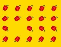 Colagem de pimentas vermelhas doces Fotos de Stock