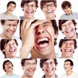 Colagem de riso da cara fotografia de stock royalty free