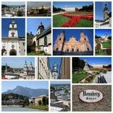 Colagem de Salzburg Fotos de Stock