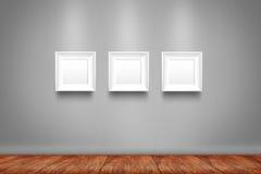 Colagem de três quadros brancos da foto Fotografia de Stock