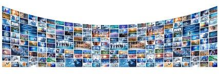 A colagem de vários conceitos do negócio fotografia de stock