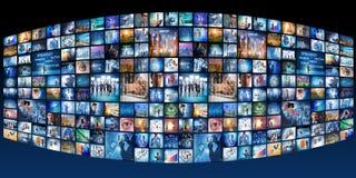 A colagem de vários conceitos do negócio fotos de stock royalty free