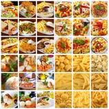 Colagem do alimento foto de stock royalty free