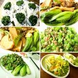Colagem do alimento do gourmet Fotos de Stock Royalty Free